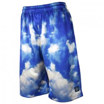 HXB Graphic Mesh Pants 【SKY】