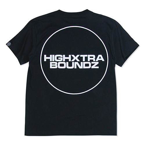 HXB コットンTEE 【THE CIRCLE】 BLACK×WHITE
