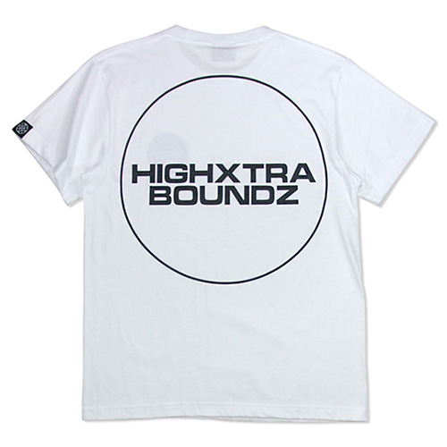 HXB コットンTEE 【THE CIRCLE】 WHITE×BLACK
