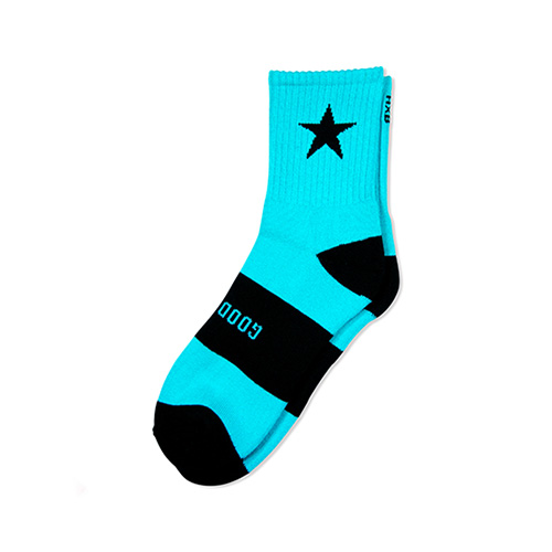 "HXB 【GOOD LUCK SOCKS】 ""STAR"" MINT×BLACK"
