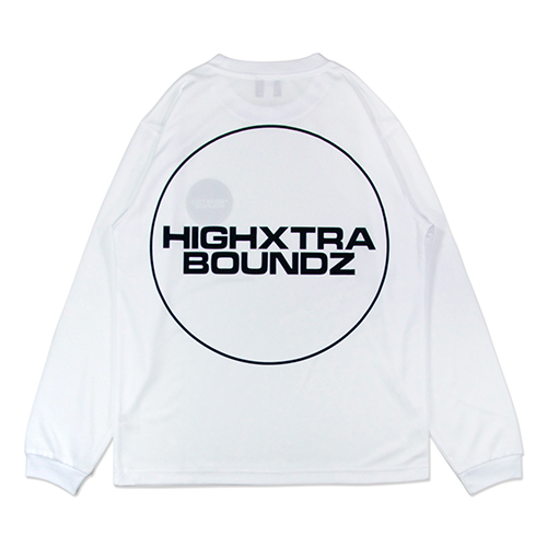 HXB DRY Long Sleeve Tee 【THE CIRCLE】 WHITE×BLACK