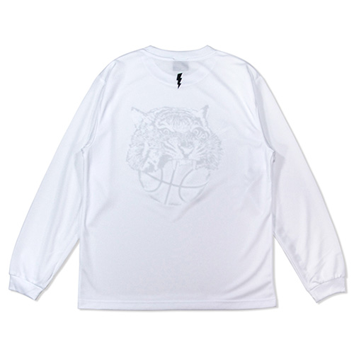 HXB DRY Long Sleeve Tee 【TIGER BALL】 WHITE