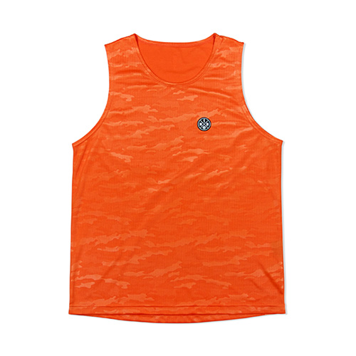 CAMO EMBOSS MESH TANKTOP ORANGE