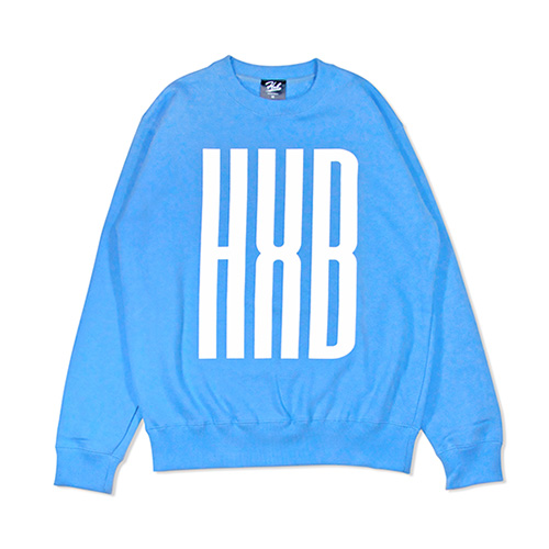 HXB SWEAT CREW NECK 【SLENDER】 CYAN