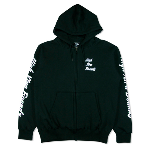 HXB COTTON ZIP PARKA 【Calligraphy】 BLACK