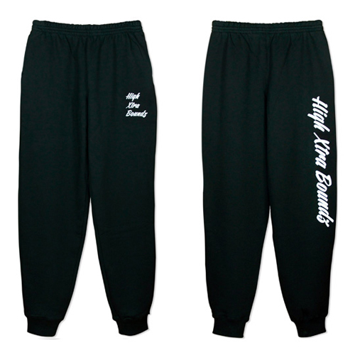 HXB SWEAT PANTS 【Calligraphy】 BLACK