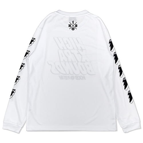 HXB×RAGELOW DRY L.S.TEE 【HIGH XTRA BOUNDS】 WHT