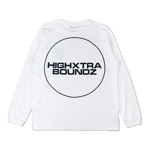 HXB COTTON Long Sleeve Tee 【THE CIRCLE】 WHITE