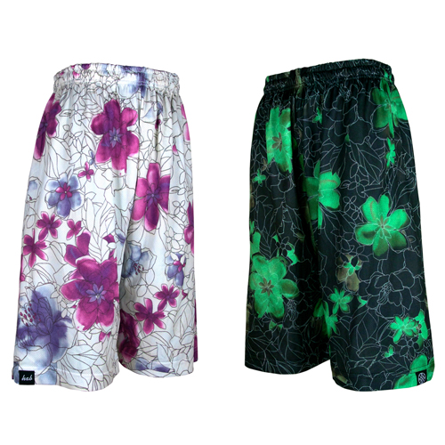 HXB REVERSIBLE MESH PANTS 【DRAW FLOWERS 1st】