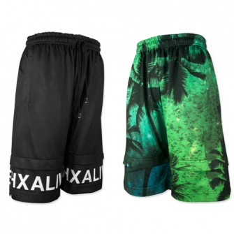 hxalive  Reversible Layered Pants【Parm Tree】