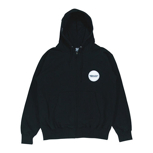HXB SWEAT ZIP PARKA 【THE CIRCLE】 BLACK