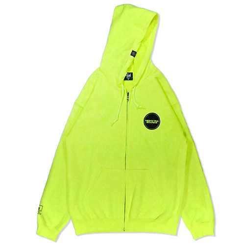 HXB SWEAT ZIP PARKA 【THE CIRCLE】 NEON YELLOW