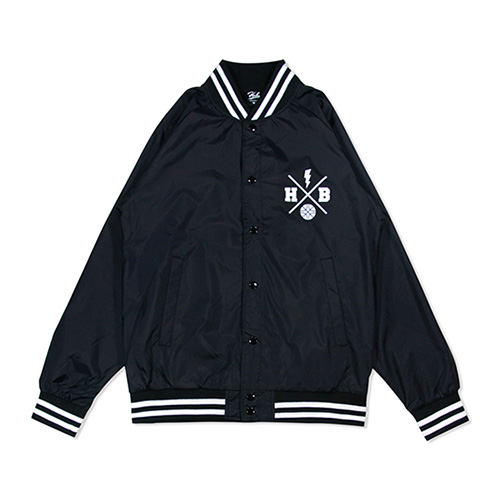 HXB NYLON STUDIUM JKT. 【XOVER】  BLACK×WHITE