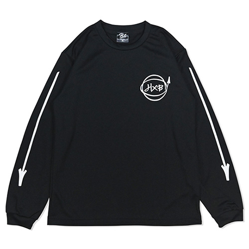 HXB DRY Long Sleeve Tee 【Marker】 BLACK×WHITE