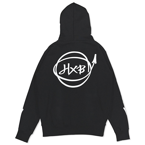 HXB HOODIE 【Marker】 BLACK×WHITE