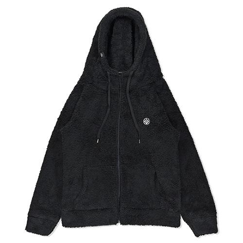 HXB 【SILKY BOA HOODIE】 BLACK