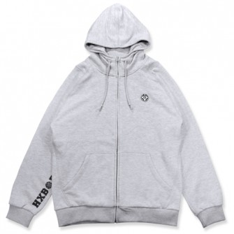 HXB 【SWEAT ZIPUP】 GRAY