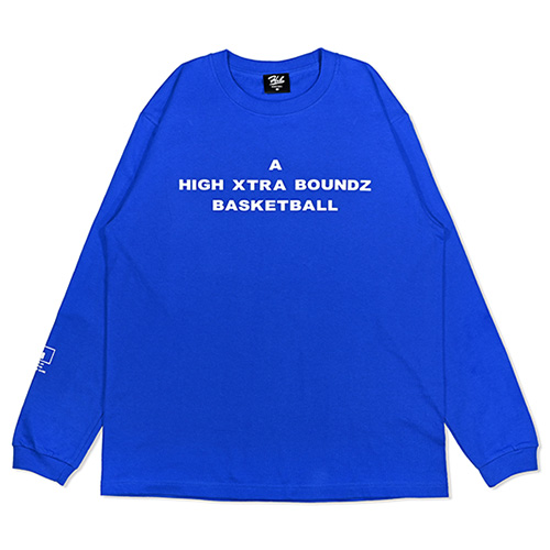 HXB Cotton Long Sleeve Tee 【A】 BLUE